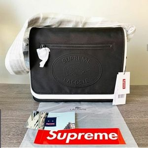 Supreme Lacoste Messenger Bag Black